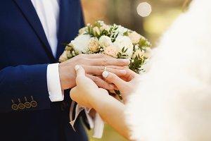 Marry me. wedding rings
