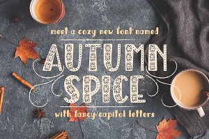 Autumn Spice Display San Serif Font