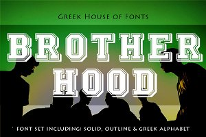 Brotherhood Greek Font Set
