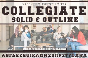 Collegiate Greek Font Set