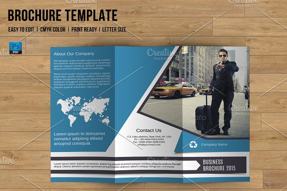 trifold business brochure v759 brochure templates creative market