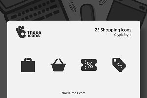 26 Shopping Vector Glyph Icon