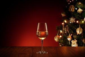 new year wine glass