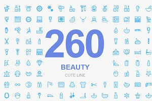 260 Beauty and spa icons
