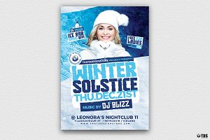 Winter Solstice Flyer Template V4