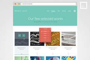 Bright - PSD web template