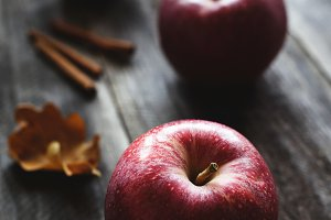 Red apples and cinnamon