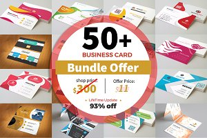 50+ Mega Business Card Bundle