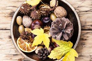 symbolic autumn Ikebana