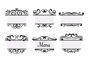 Vintage vector menu elements