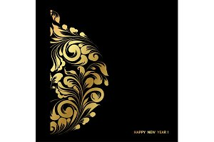 Happy new year card.