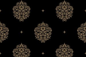 Victorian baroque seamless pattern