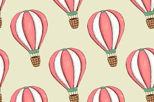 Seamless pattern with balloon