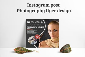 Instagram Post Photography flyer