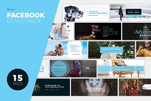 Facebook Cover Pack - Fresh blue