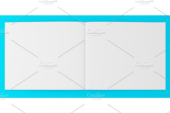 3D Illustration Of Brochure Template On Color Background