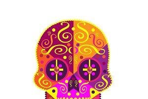 Pink skull Halloween