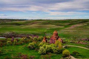 Exterior view to Marmashen Church , Shirak, Armenia