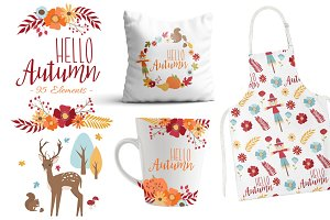 Hello Autumn Clipart Set