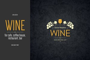 Wine logo template for restaurant