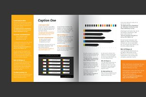 Layout template, brochure