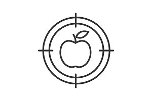 Aim on apple linear icon
