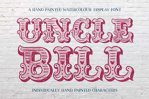 Uncle Bill Watercolour Display Font