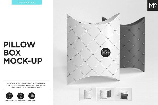 Pillow Box Mock-ups Set