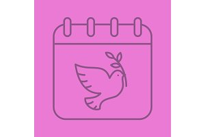 World Peace Day linear icon