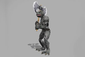 LIZARD WARRIOR fbx only