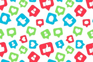 Social networks icons pattern