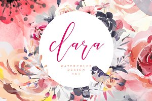 Clara • Watercolor Design Set