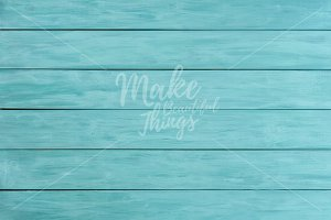 Aqua wooden background / #3131