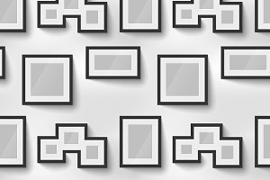 Picture frames on wall pattern