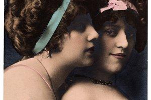 burlesque women, 1900