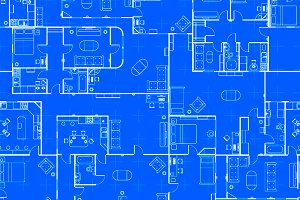 Different blueprint house plans graphic objects creative market blueprint house plan pattern malvernweather Image collections