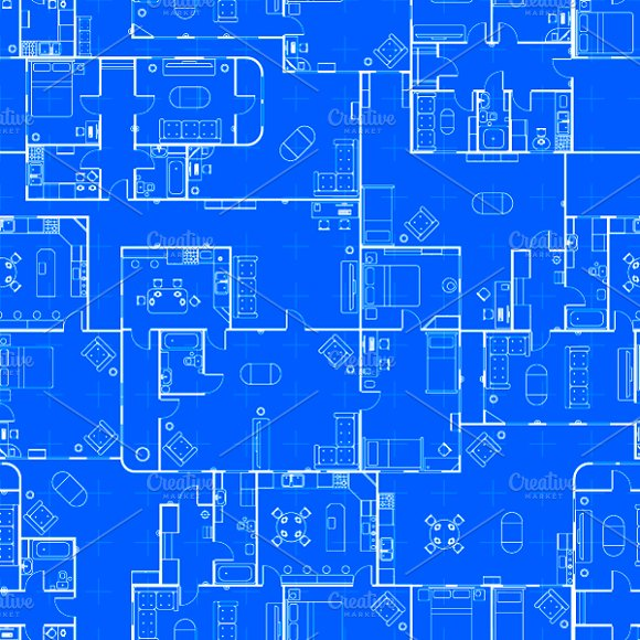 Blueprint house plan pattern patterns creative market malvernweather Image collections