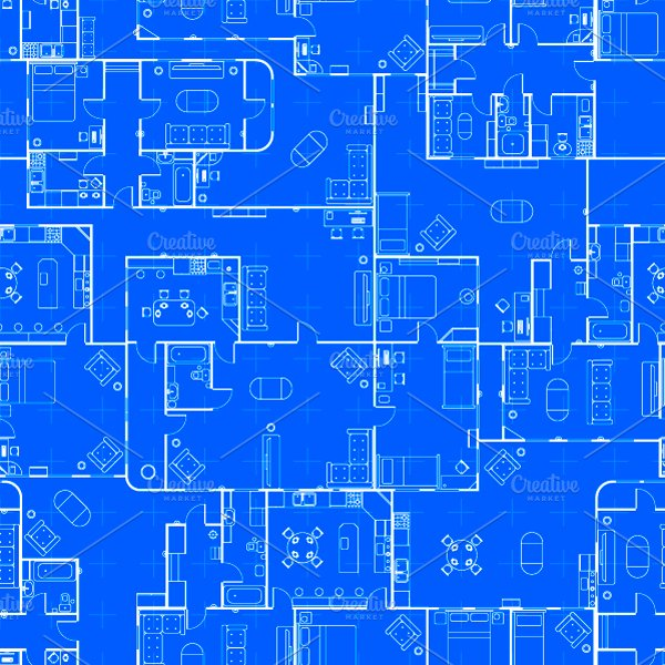 Blueprint house plan pattern patterns creative market malvernweather Images