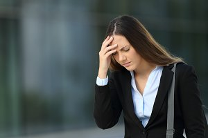 Single executive suffering headache
