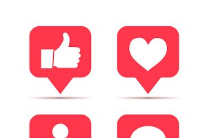 Set of icons for social network