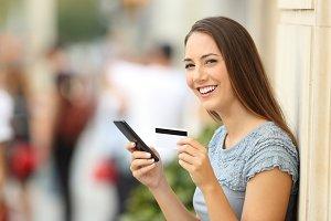 Portrait of an on line shopper