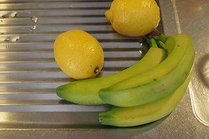 banana and lemon fruit food