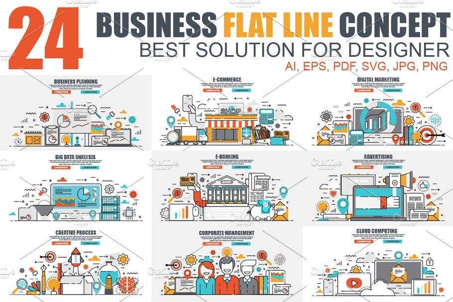Color Line Concepts ~ Illustrations ~ Creative Market