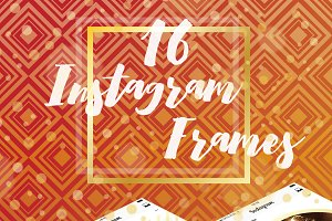 16 Instagram Template in Gold Color
