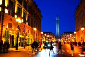 Place Vendome at Christmas time