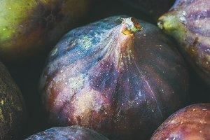 Close-up of fresh ripe figs