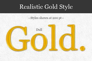 Realistic Gold Style