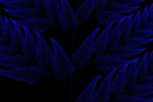 Blue fractal background