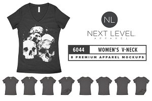 Next Level 6044 Women's V-Neck Mocks