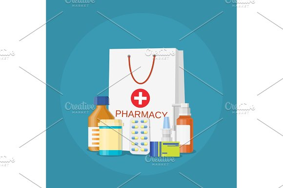 Modern Interior Pharmacy And Drugstore